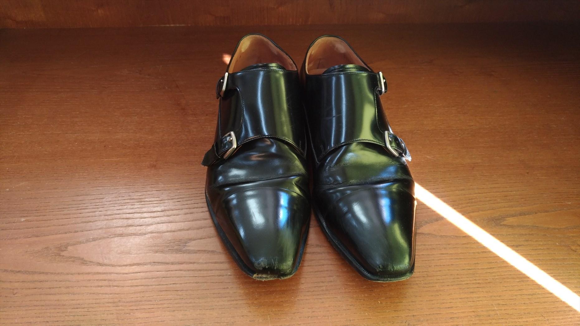 リーガル革靴のモンクストラップ