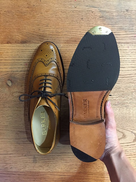 バーカー靴トゥースティール修理